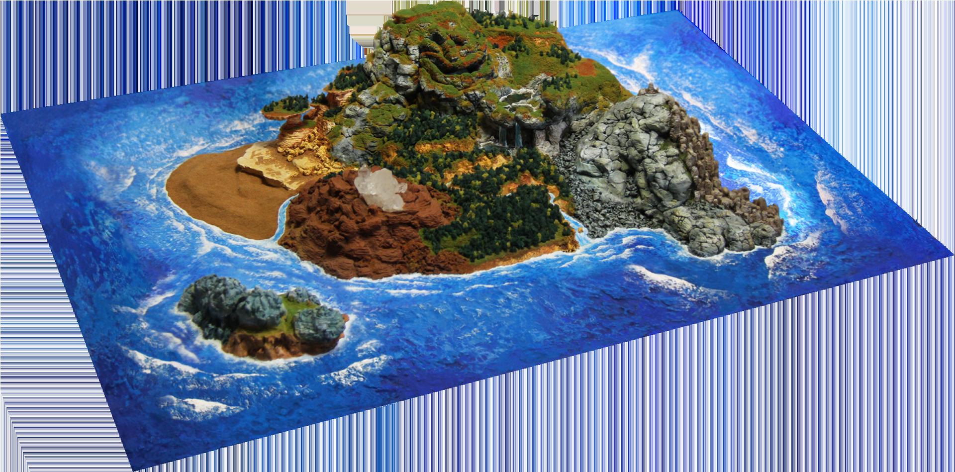 神様の宝石でできた島